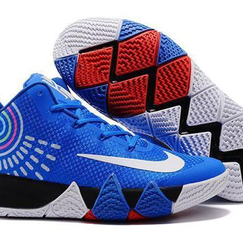 Fashion Online Nike Kyrie Irving 4 Royal Blue-white Sport Shoes Us7-12