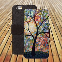 iphone 5 5s case tree watercolor life iphone 4/4s iPhone 6 6 Plus iphone 5C Wallet Case,iPhone 5 Case,Cover,Cases colorful pattern L257
