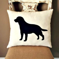 Labrador Dog Silhouette Throw Pillow, Decorative Pillow, Home Decor, Pets, Dog Pillow,Dorm Decor, Sofa Pillow,Couch Pillow **FREE SHIPPING**