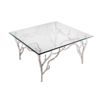 Metropolitan Side Table Polished Nickel