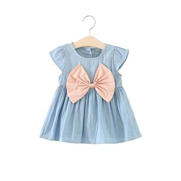 fashion baby girl dress summer children girl cotton dress summer clothes kids party clothing for girls