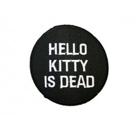 Hello Kitty is Dead Patch | Iron on Patches | Extreme Largeness