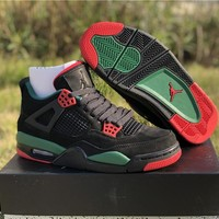 "Air Jordan 4 Retro ""Gucci"" Sneaker Shoes"