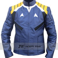 Chris Pine Star Trek Beyond Jacket Blue Costume