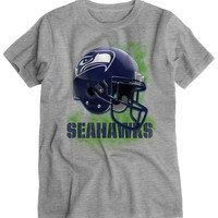 PS from Aero Boys Seattle Seahawks Helmet Graphic T-Shirt - Gray,