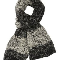 Combo Two Tone Cable Knit Scarf by Charlotte Russe