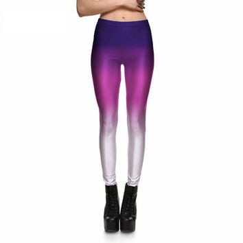 Purple Ombre Gradient Leggings