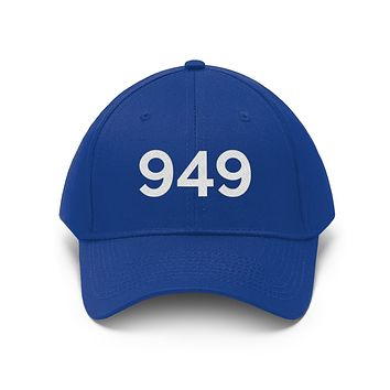 California 949 Area Code Embroidered Twill Hat