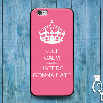 iPhone 4 4s 5 5s 5c 6 6s plus iPod Touch 4th 5th 6th Generation Funny Cover Pink Custom Keep Calm Quote Haters Gunna Hate Fun Phone Case