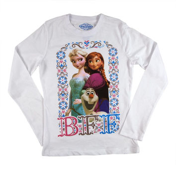 Frozen - BFF Girls Youth Long Sleeve T-Shirt