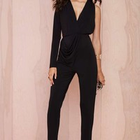 Nasty Gal Molten Crepe Jersey Jumpsuit