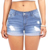 Amplified Denim Shorts