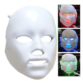 LED Photon Therapy Face Mask 3 Colors Light Skin Treatment Care Rejuvenation Facial Whitening Instruments USB Powered