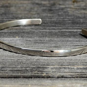 Dainty Silver Bracelet Crafted in 925 Sterling Silver and Polished to a Mirror Shine