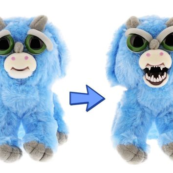 """Feisty Pets Brainless Brian Adorable 8.5"""" Plush Stuffed Triceratops"""