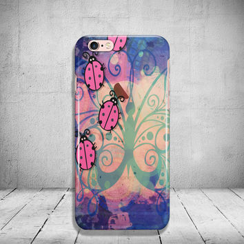 iPhone 6 Ladybug Case Soft Clear iPhone 6s Case Clear iPhone 6 Case iPhone 5s Case iPhone 6s Plus Case Soft Silicone iPhone Case