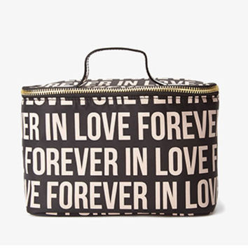 FOREVER 21 Forever In Love Cosmetic Bag Black One