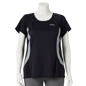 Zigzag Colorblock Raglan Running Tee - Women's Plus