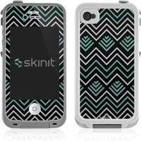 Chevron Lifeproof iPhone 4&4s Skin - Techno Chevron Vinyl Decal Skin For Your Lifeproof iPhone 4&4s