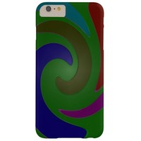 Colorful Mod Green Abstract Barely There iPhone 6 Plus Case