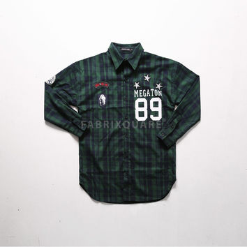 XQUARE Megaton 89 Patched Plaid Shirt