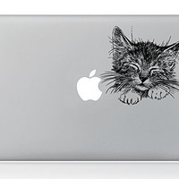 "Boiling Glacier Solid Hand Painted Lovely Cat Pattern Laptop Sticker Removable Vinyl Decal Designed for Apple Macbook Air Macbook Pro 11"""" 13"""""