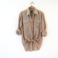 20% OFF CIJ SALE / 70s western shirt. button down shirt. pearl snap shirt.