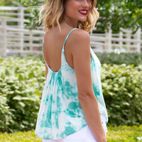 Free Spirit Tie Dye Top - MINT