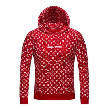 Trendsetter LV x Supreme Women Man Fashion Sport Casual Top Sweater Pullover Hoodie