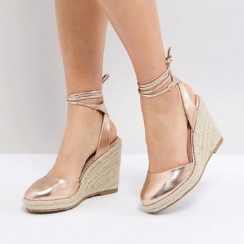 ASOS JUICIEST Espadrille Wedges at asos.com
