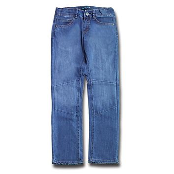2017 New Stylish Boys Casual Denim Jeans Teenagers Navy Blue Trousers Patchwork Kids Light Color Pants Children Clothes