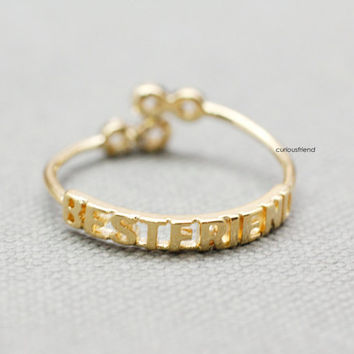 Best Friends Twisted Infinity Ring / BEST FRIEND Infinity Ring / Infinite ring / best friends ring / friendship ring - color(*Gold*)