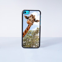 Cute Giraffe Plastic Phone Case For iPhone 5C More Case Style Can Be Selected