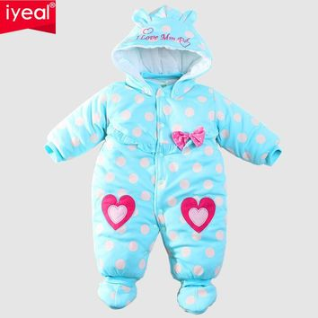 Baby Winter Romper cotton-padded One Piece Newborn Baby Girl Warm Jumpsuit Autumn Fashion baby's wear Kid Climb Clothes 3-12m