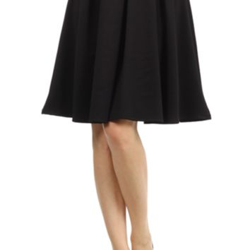 Shop Long Black Pleated Skirt on Wanelo