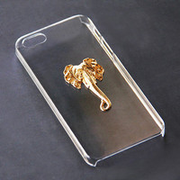 Transparent iPhone 6 Case Elephant iPhone 5s iPhone 5 Animal Case iPhone 5 Case Elephant Gold Transparent Samsung Galaxy S4 iPhone 6 Plus