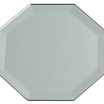 octagon glass mirror with bevel edge - 12""