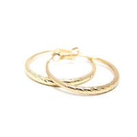Shine Bright Hoop Earrings In Gold