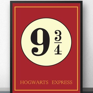 poster harry potter 9 34 Movie Wall Art Paint Wall Decor Canvas Prints Canvas Art Poster Oil Paintings No Frame