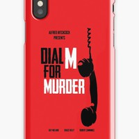 'Dial M for Murder - Alfred Hitchcock' iPhone Case/Skin by ValentinaHramov