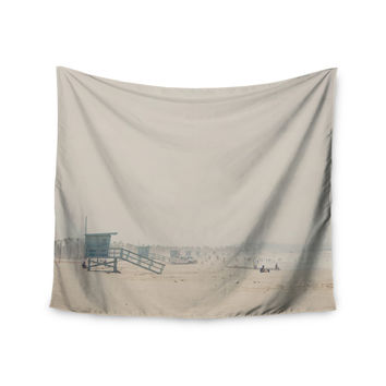 "Laura Evans ""Summer Haze"" Coastal Brown Wall Tapestry"