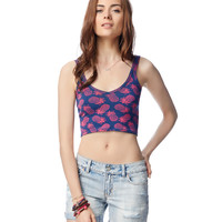 Aeropostale  Womens Pineapple Crop Tank Top