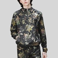 Versace - Acquarello print hooded jacket