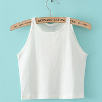 Sleeveless Cropped Tank Top