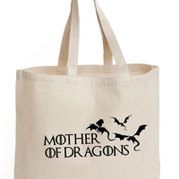 Mother of Dragons Cotton Tote shopping picnic office school book Bag Game of Thrones Printed Fan art
