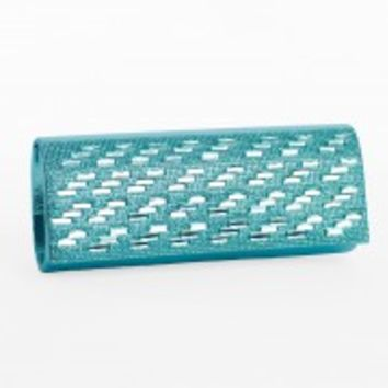 Shimmer Stone Flap Clutch