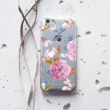 iPhone Rubber Case iPhone 6 Case Floral iPhone 6s Case Clear iPhone 6s Plus Case Flexible Rubber iPod Touch 5 Case Silicone Protective 225
