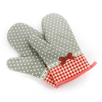 KCASA KC-PG07 1Pcs Cotton Printing Oven Mitts Microwave Oven BBQ Heat Resistant Potholder Gloves