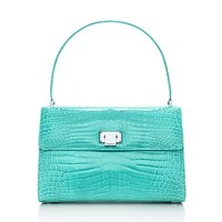 Tiffany & Co. -  Maddie Lunch Box handbag in Tiffany Blue® crocodile. More colors available.