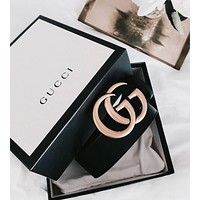 "Hot Sale ""GUCCI"" Popular Woman Men Personality Smooth Buckle Belt + Best Gift I"
